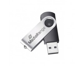 MediaRange USB 2.0 Flash Drive 4GB (Black/Silver)
