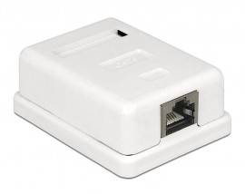 DELOCK Modular Wall Outlet, 1 Port, Cat.6 UTP, White