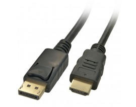 PT Καλώδιο Displayport 20pin male / HDMI male, 1m, Black