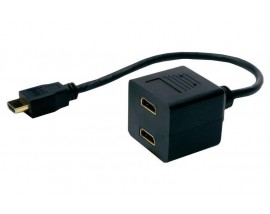PT HDMI Splitter 19pin male / 2x Female Gold - COOPER