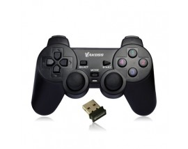 VAKOSS Wireless Gamepad, 10 buttons, 2 joystick, Black