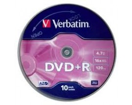 Verbatim DVD+R 120' 4.7GB 16x Cake Box x10 (43498)