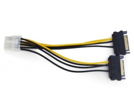 CABLEXPERT INTERNAL POWER ADAPTER CABLE FOR PCI EXPRESS, 8pin TO SATA x 2 pcs