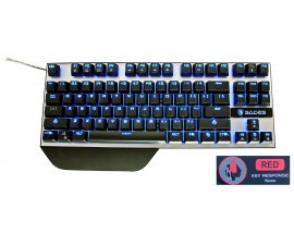 SADES Gaming Keyboard Karambit, Mechanical, Blue LED, US, Red switch