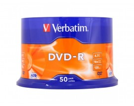 Verbatim DVD-R 120' 4.7GB 16x Cake Box x50 (43548)